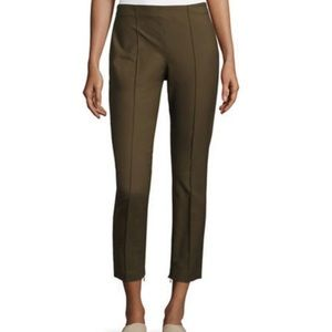 Theory Alettah Approach Dark Green Slim Leg Pants